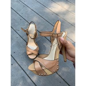 Tan Heels by Jessica Simpson, Size 6.5